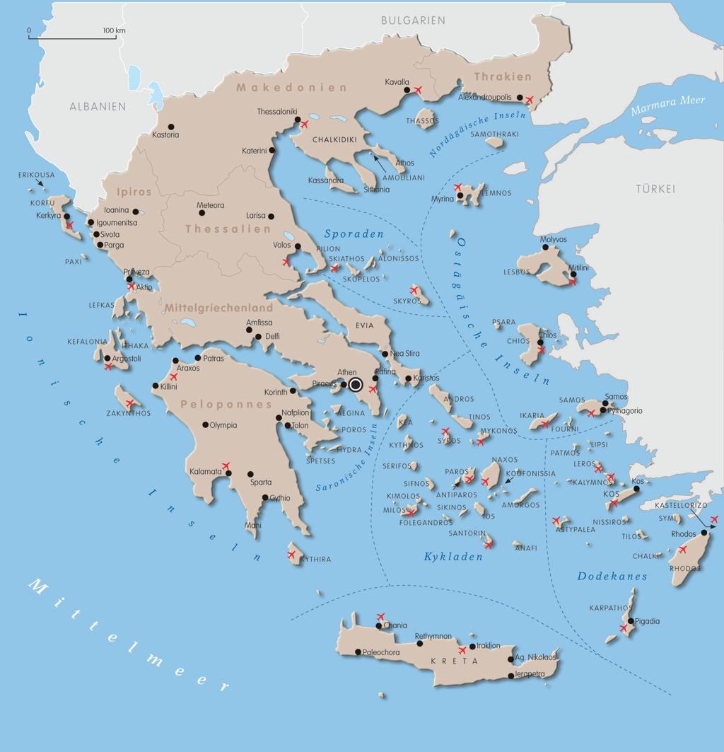 karte zypern griechenland Griechenland Karte
